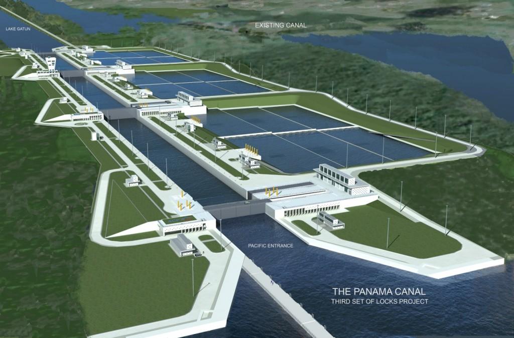 Трета серия на разширение на Панамския канал.