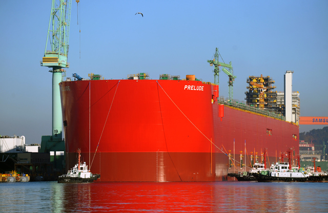 Prelude FLNG Hull Float Launch
