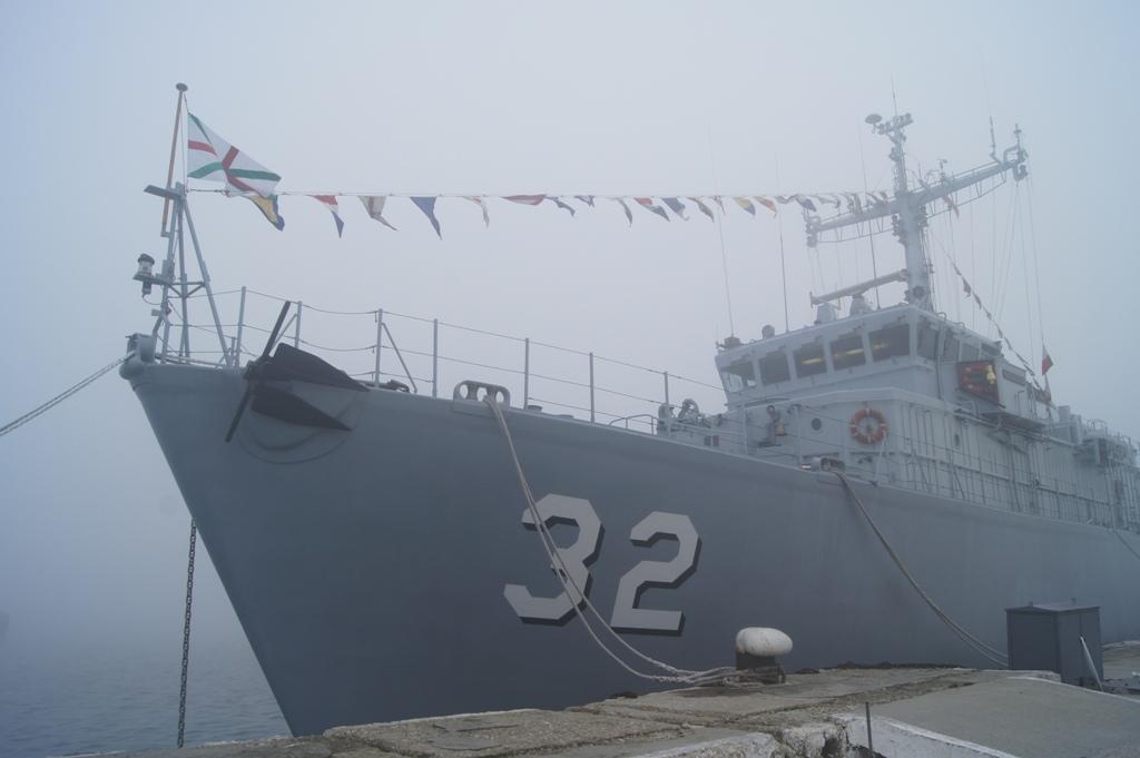 """Минен ловец """"Цибър"""", снимка: Пресцентър, ВМС"""