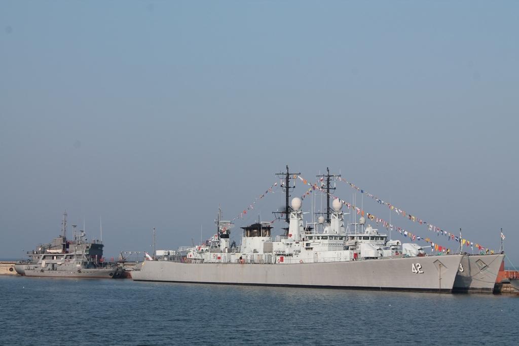 """Фрегата """"Верни"""", снимка: Пресцентър, ВМС"""
