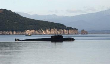 Засякоха японска подводница в руски води