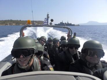 """Приключи първия етап от участието на фрегата """"Верни"""" в операцията на НАТО в Средиземно море """"ACTIVE ENDEAVOUR 2014"""""""