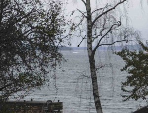This amateur photo made available by the Swedish Defence Ministry shows an object in the sea near Stockholm