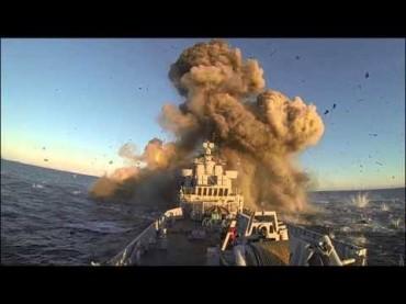 Ракета от ново поколение удря норвежка фрегата (видео)