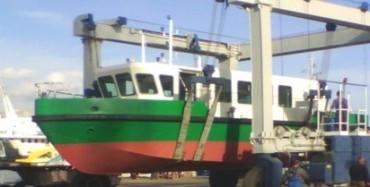 Пристанищна инфраструктура получава по суша уникален катер за мониторинг на речното дъно