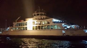 Бълкер удари ферибот край Истанбул (снимки)