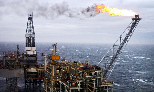 Oil rig, North Sea