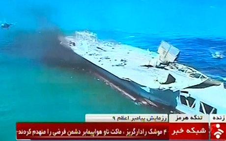 """Иран потопи """"американски"""" самолетоносач (видео)"""