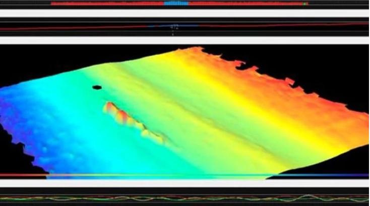 Откритият обект е с приблизителна дължина около 62 метра и височина над дъното 13 метра.